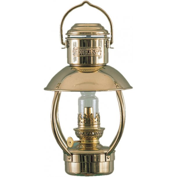 Messing Olie Lampe - Trawlerlampe junior olie 10'''